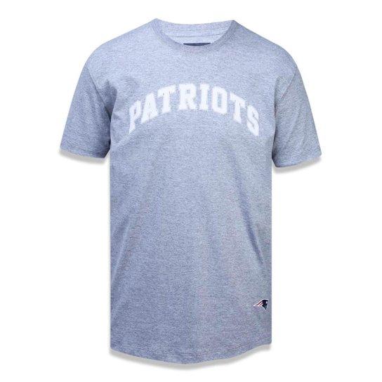 Camiseta New England Patriots NFL New Era Masculina - Mescla Claro ... ce489686365