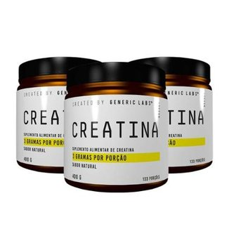 Kit 3x Creatina 1,2Kg 400g Generic Labs