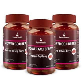 Kit 3 Power Goji Berry 60 Cáps