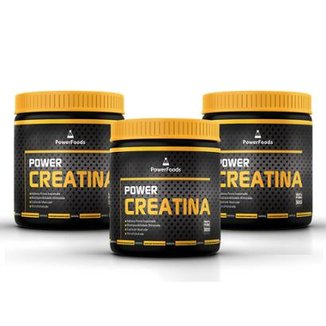 Kit 3 Power Creatina 300g. - PowerFoods
