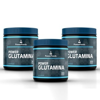 Kit 3 Power Glutamina 300 g - PowerFoods