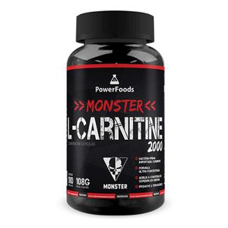 Monster L-Carnitine 2000 - 180 cápsulas - PowerFoods
