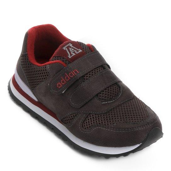 Tênis Infantil Addan Velcro - Chumbo e Vermelho - Compre Agora ... 4c9c2189efa16