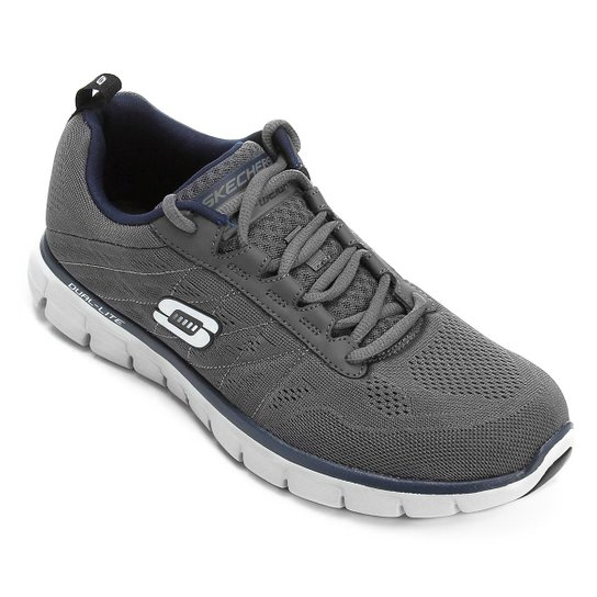 8ceaf384605 Tênis Skechers Synergy Power Switch Masculino - Cinza e Marinho ...