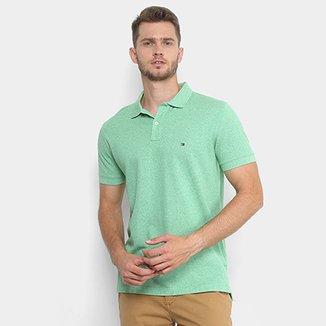 58033a972 Camisa Polo Tommy Hilfiger Piquet Mescla Color Masculina