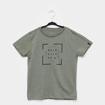 Camiseta Infantil Quiksilver Square Manga Curta Masculina