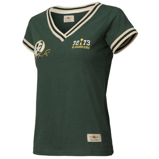 1d3d6d08003e4 Camisa Retrô Gol Feminina Réplica Ademir da Guia Ex - Palmeiras - Musgo