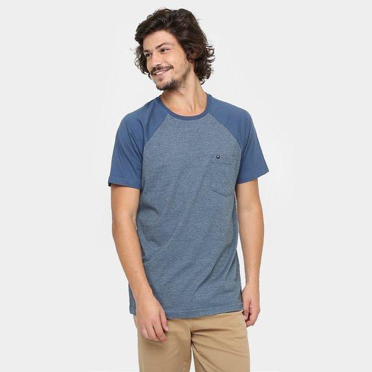 d036f7af64c8f Camiseta Hang Loose Especial Blend - Azul+Azul claro ...