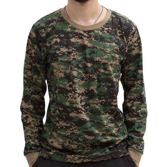 Camiseta Bravo Manga Longa - Camuflado - Compre Agora  e1df5080a5b