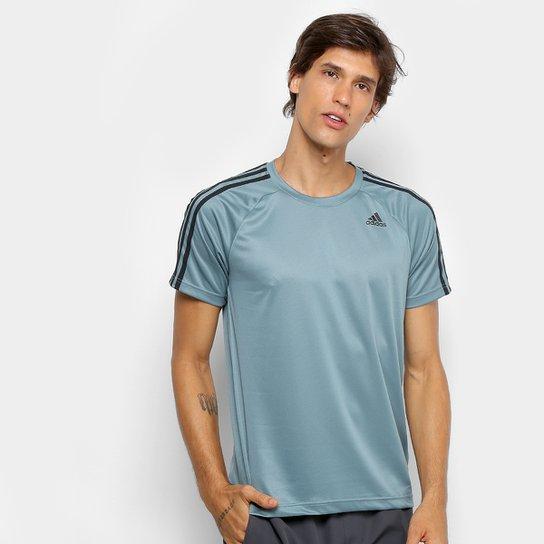 de67bd7b53b Camiseta Adidas Mc D2M 3S Masculina - Verde claro - Compre Agora ...