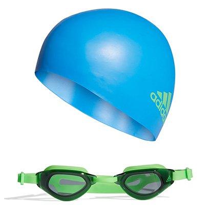 Kit Óculos + Touca Adidas Infantil Natação