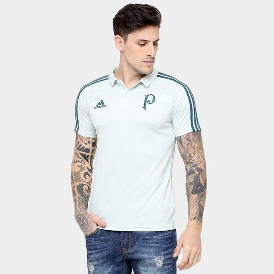 9cca2cb90b Camisa Polo Palmeiras Adidas Viagem 17 18 Masculino - Verde Claro e ...