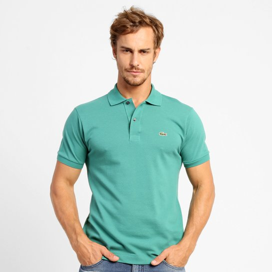 b4b7604f14 Camisa Polo Lacoste Original Fit Masculina - Verde água - Compre ...