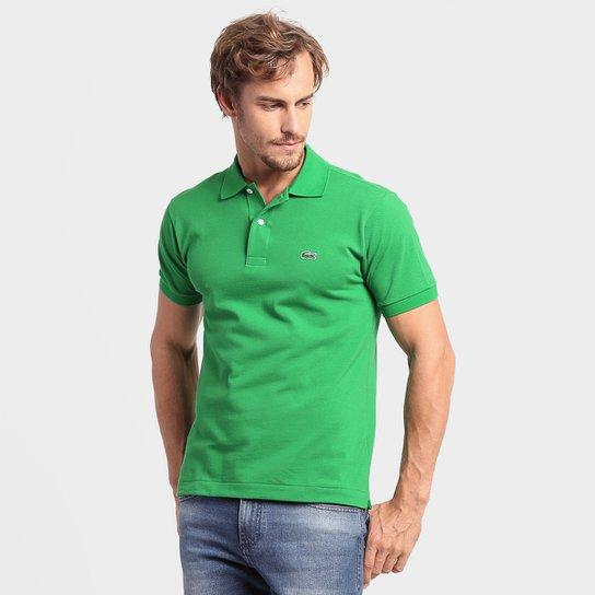 b65d005a1a581 Camisa Polo Lacoste Original Fit Masculina - Verde - Compre Agora ...