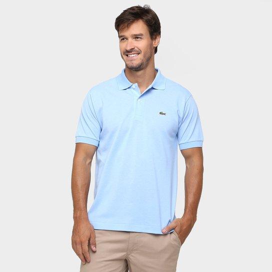 Camisa Polo Lacoste Original Fit Masculina - Azul Claro - Compre ... 467afcc77b
