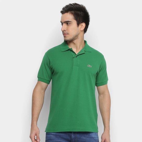 66aafff8102ae Camisa Polo Lacoste Piquet Original Fit Masculina - Verde - Compre ...