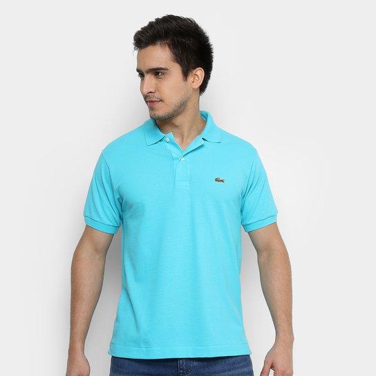 f9dd76e6c1a99 Camisa Polo Lacoste Piquet Original Fit Masculina - Azul Claro e ...