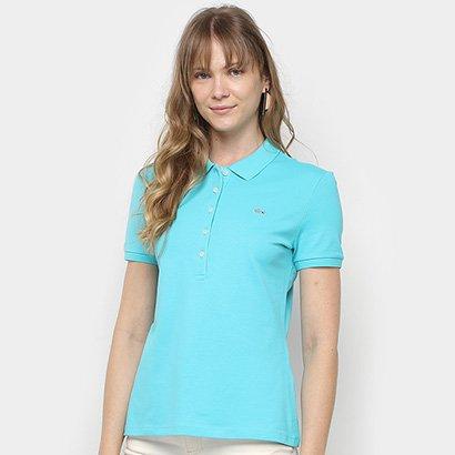 Camisa Polo Lacoste Piquet Manga Curta Feminina