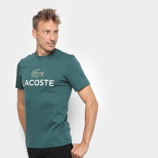 f23ee2233d1 Camiseta Lacoste Logo Masculina - Musgo - Compre Agora