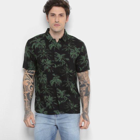 1e546877fe Camisa Ellus Manga Curta Estampa Tropical Masculina - Compre Agora ...