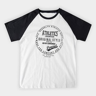 Camiseta Infantil Fakini Estampa Old School Raglan Masculina 2f0051d26ceab