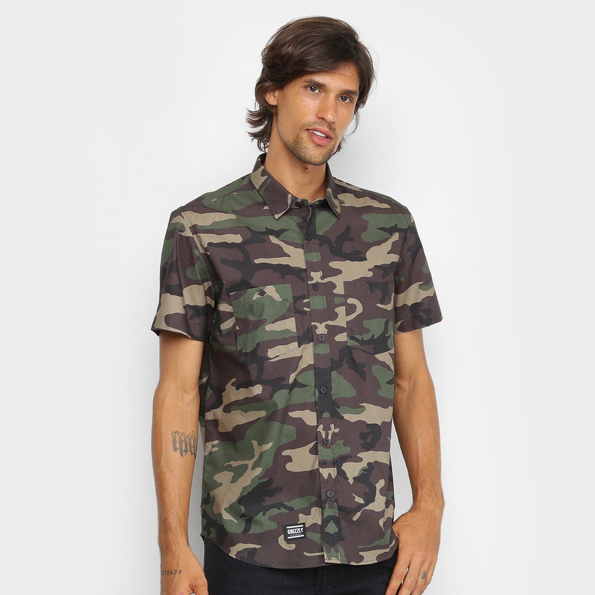 Camisa Grizzly Infantry Woven Masculina