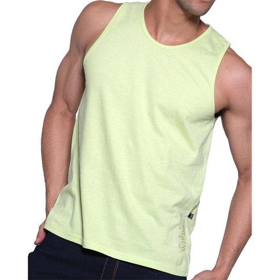 Camiseta Regata Masculina Oitavo Ato Lisa Básica Mescla - Verde claro 06171dc1bc6