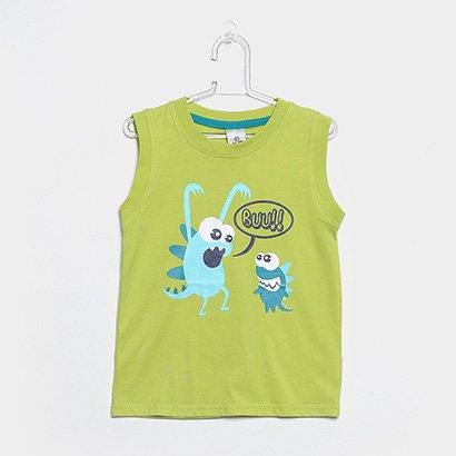 Camiseta Regata Infantil Tip Top Bu Masculina