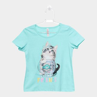 Blusa Infantil Cativa Little Friends Feminina 0967108f630aa