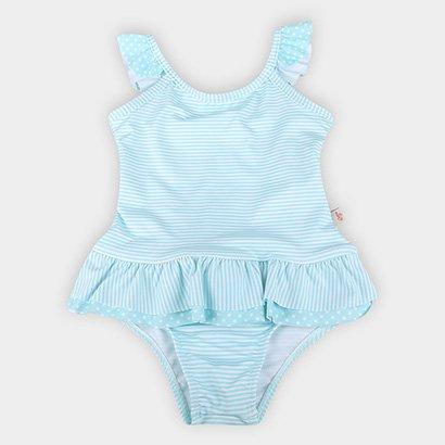 Maiô Infantil Boca Grande Sublimado Com Proteção UV 50+ Listras