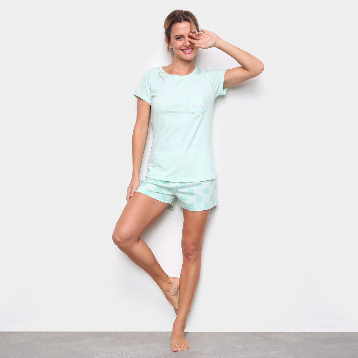 Pijama Cor com Amor Short Doll Feminino