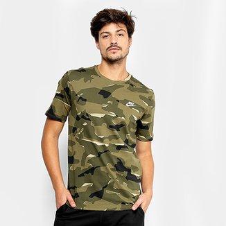 59319cc88c Camiseta Nike Camuflada Nsw Tee Camo Pack Masculina