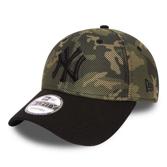 Boné New Era Aba Curva St Mlb Ny Yankees Mesh Overlay - Compre Agora ... fe906118928