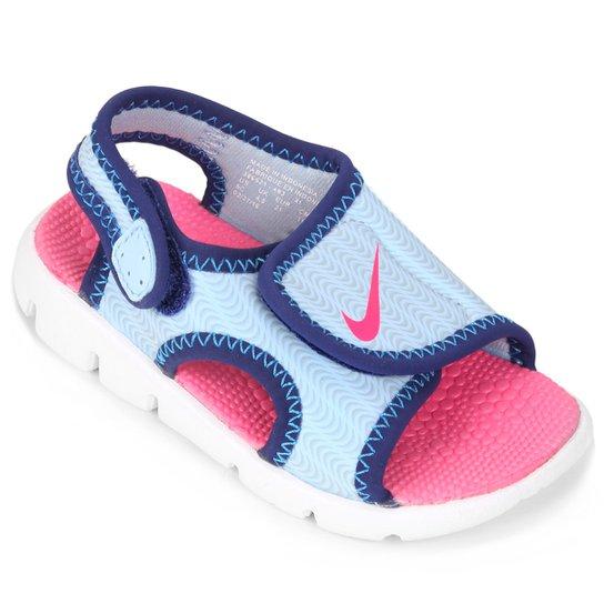 571f9fc1ee0 Sandália Nike Sunray Adjust 4 Infantil - Azul e Rosa - Compre Agora ...