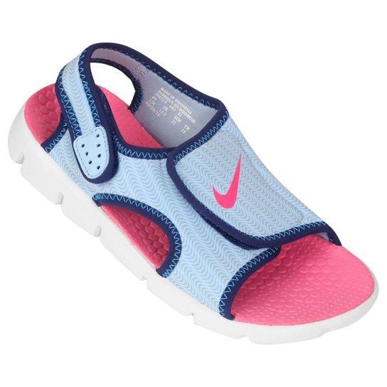 3387dbf91e Sandália Infantil Nike Sunray Adjust 4 GGP Feminina - Marinho+Rosa Claro