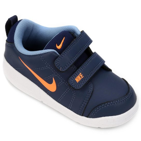 d4ecc5c8200 Tênis Infantil Nike Pico Lt Masculino - Azul e Laranja - Compre ...