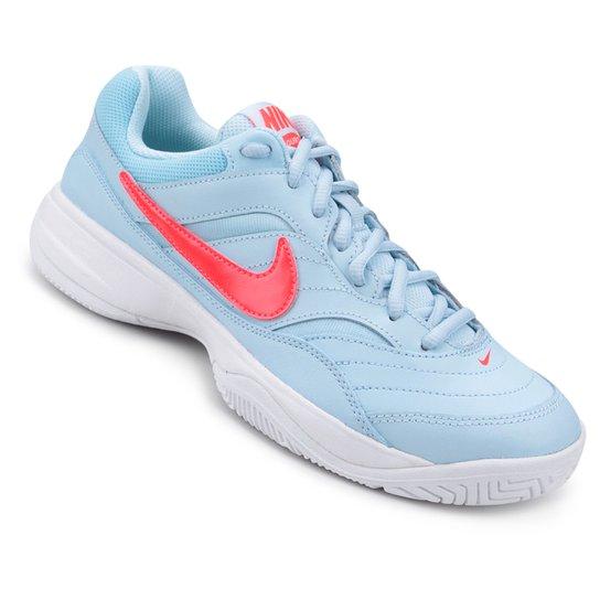 9b5cc146e1a Tênis Nike Wmns Nike Court Lite Feminino - Azul e Rosa - Compre ...