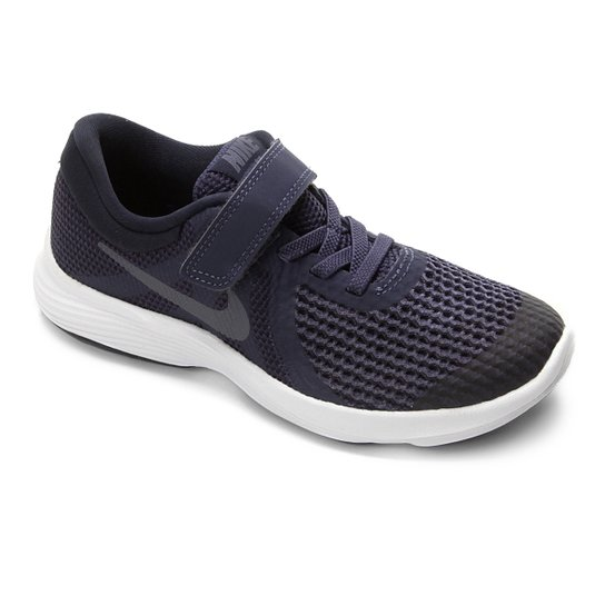 70eb5de05cf Tênis Infantil Nike Revolution 4 Masculino - Azul e Chumbo - Compre ...