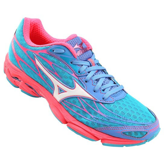 Tênis Mizuno Wave Catalyst Feminino - Azul e Rosa - Compre Agora ... e01dd7bbcf032