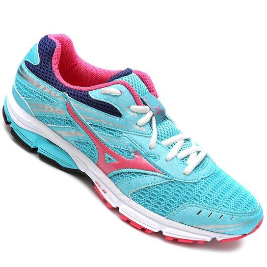 3ca5ec9120a9b Tênis Mizuno Wave Zest Feminino - Azul Piscina e Pink | Netshoes