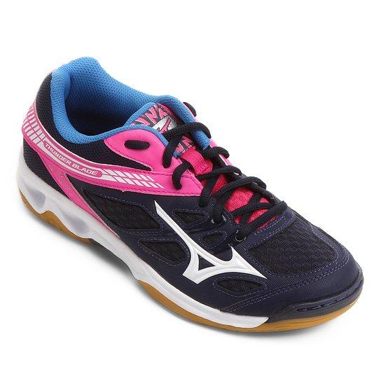 cb86f23c4e40d Tênis Mizuno Thunder Blade Feminino - Marinho e Pink | Netshoes