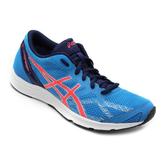 Tênis Asics Gel Hyper Speed 7 Feminino - Azul Turquesa e Pink ... 9825cc4fd8f6a