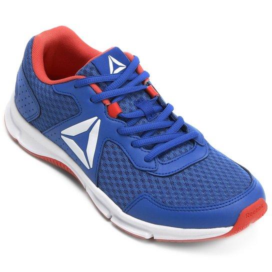 53b0cf5bb7c Tênis Reebok Canton Runner Feminino - Azul e Vermelho - Compre Agora ...