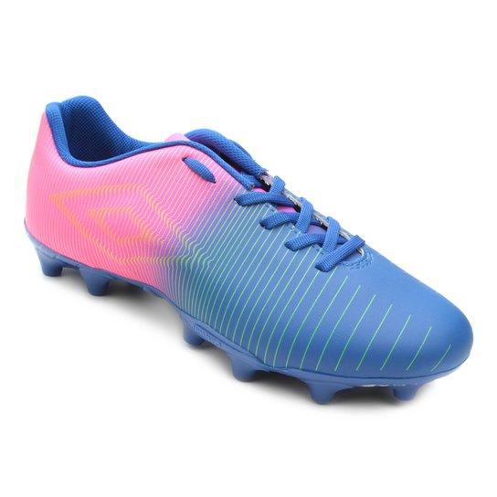 Chuteira Campo Umbro Vibe - Azul e Rosa - Compre Agora  5a1232faceb3f