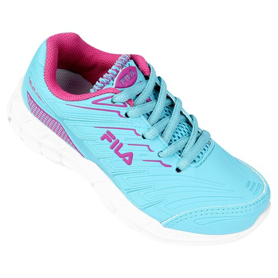 d59dd0f5cbb Tênis Fila Axis Infantil - Azul Piscina e Pink - Compre Agora
