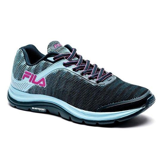 67d55312b Tênis Fila Softness 2.0 Feminino - Azul e Rosa | Netshoes