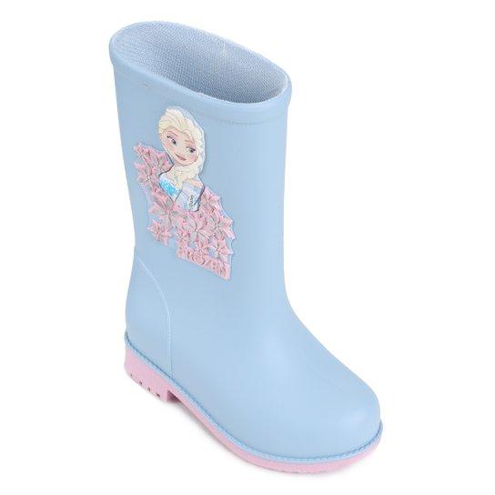 1d09fda00 Bota Infantil Galocha Grendene Disney Fashion Feminina - Azul e Rosa ...