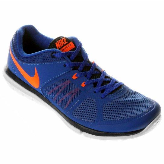 1a1c4599 Tênis Nike Flex 2014 RN MSL - Azul+Laranja