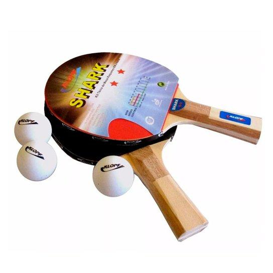 Kit Klopf Tênis de Mesa 2 Raquetes 3 Bolas - Compre Agora  7ac8e1c8ba343