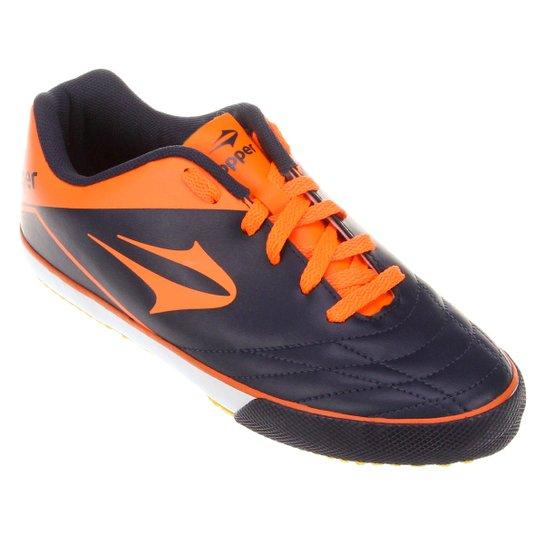 Chuteira Futsal Topper Frontier 7 - Marinho+Laranja e00a2307fa3a2